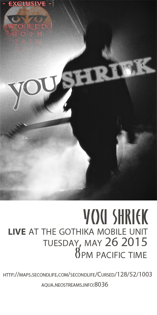 You Shriek poster layout